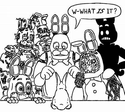 Fnaf Bonnie Nights Five Pages Colouring Springtrap