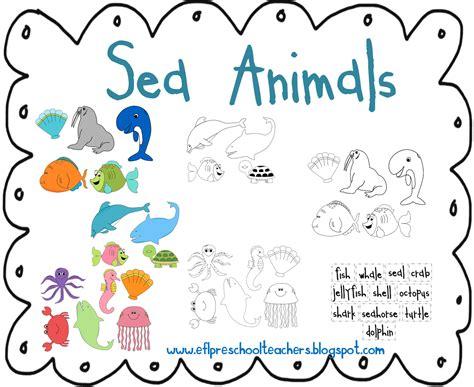 esl efl preschool teachers sea animals theme for 795 | sea cutout