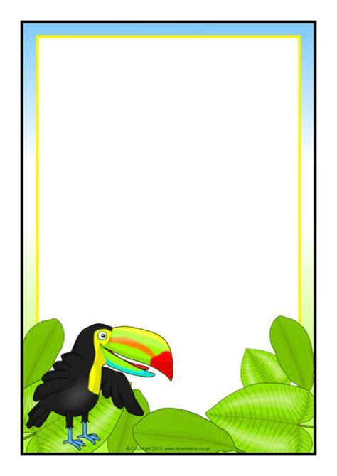 toucan  page borders sb sparklebox