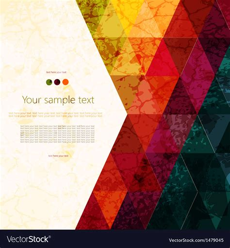 Colorful abstract geometric background Royalty Free Vector
