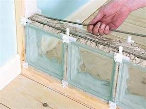 How to Build an Interior Glass Block Wall | how-tos | DIY