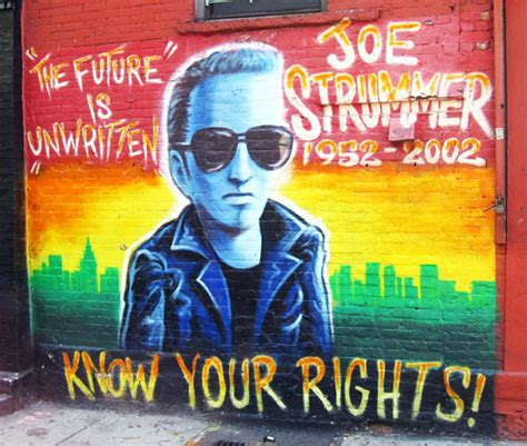 Joe Strummer Mural New York City travel photo joe strummer mural in the east