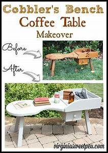 Cobbler's Bench Coffee Table Makeover Bench, Woodworking