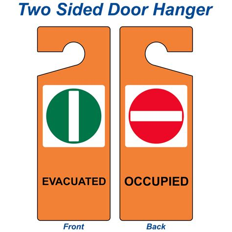 evacuated occupied sign nhe 18094 emergency response