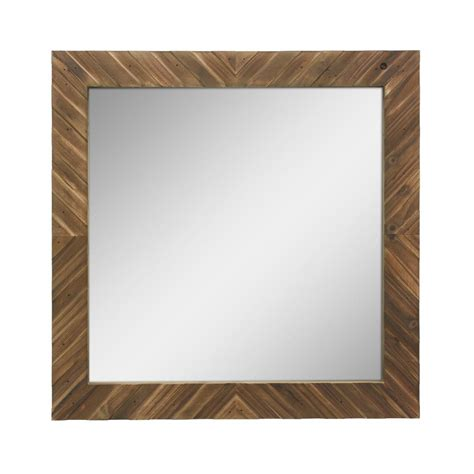 bedroom wall sconces stonebriar collection square wooden decorative wall mirror 10747