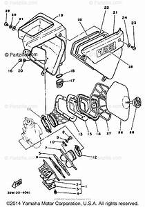 Yamaha Motorcycle 1983 Oem Parts Diagram For Air Cleaner