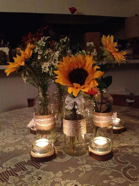 Diy Sunflower Centerpieces Wedding Ideas Wedding