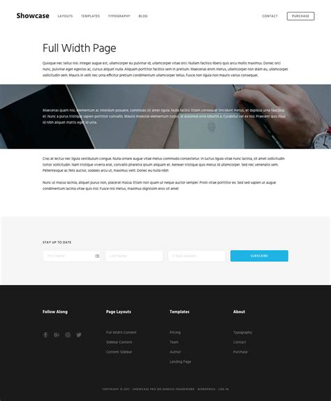 template full widht full width page template in showcase pro sridhar katakam
