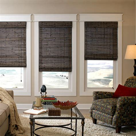 intercrown corded natural woven wood roman shades