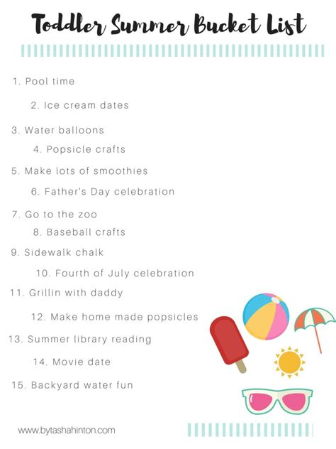Our Toddler Summer Bucket List & Free Printable
