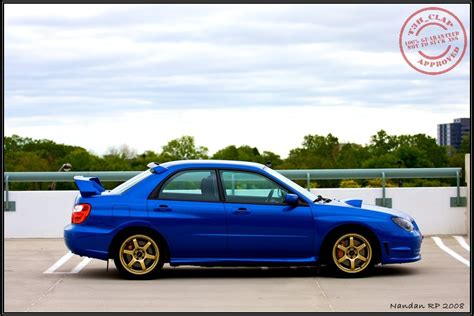 blue subaru gold rims uncompromised daily driver weekend warrior t3h clap 39 s