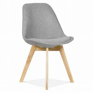 Eames Inspired Cool Grey Upholstered Dining Chair Cafe