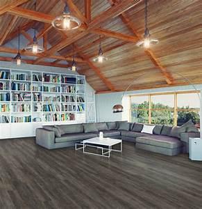 Parquet A Clipser : lame exclusive wood lame pvc clipsable marron fonce ~ Premium-room.com Idées de Décoration