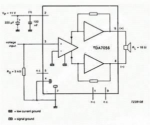 Super circuit diagram using tda7056 3w btl mono audio for Using tda7056 3w btl mono audio power amplifier supreem circuits
