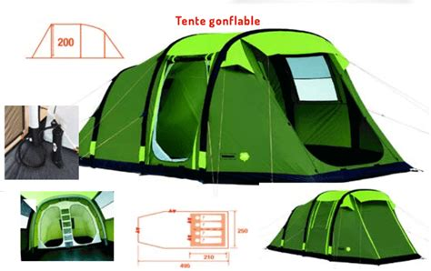 tente 6 places 2 chambres grande tente familiale gonflable 4 places trigano