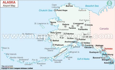 buy alaska airports map