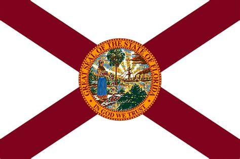 flag florida state flags animated clip american fl fla national states 1985 background tree