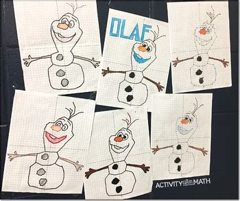christmas math snowman coordinate plane graphing ordered