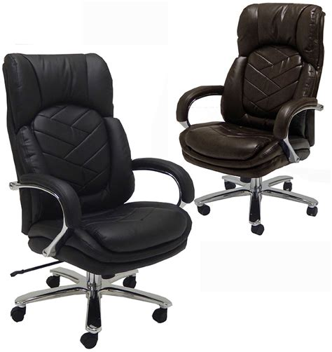 500 lb heavy duty office chair 500 lbs capacity leather executive big chair