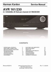 Harman Kardon Avr 161 Service Manual  U2014 View Online Or Download Repair Manual