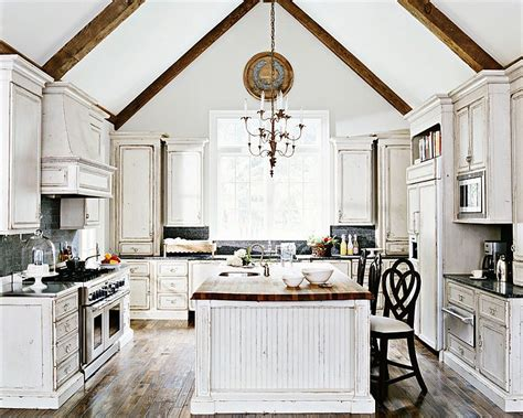 rustic chic kitchen 50 fabulous shabby chic kitchens that bowl you White