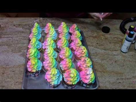 rainbow cupcakes cake decorating   youtube