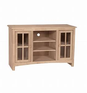 48 inch franklin tv console simply woods furniture With 48 inch media cabinet