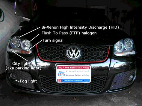 headlights   market gti bi xenon equipped