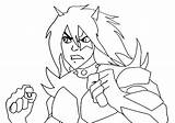 Demon Coloring sketch template