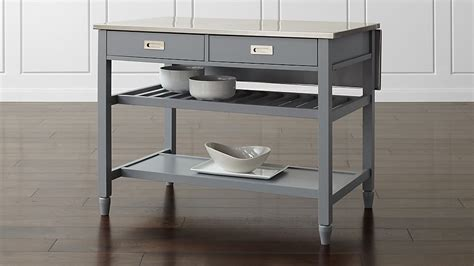 sheridan grey kitchen island crate  barrel
