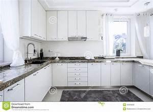 Plan De Travail Cuisine Marbre : cuisine avec le plan de travail de marbre photo stock image 45930835 ~ Melissatoandfro.com Idées de Décoration