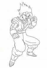 Vegito Coloring Super Saiyan Draw Deviantart Template Larger Credit Sketch sketch template