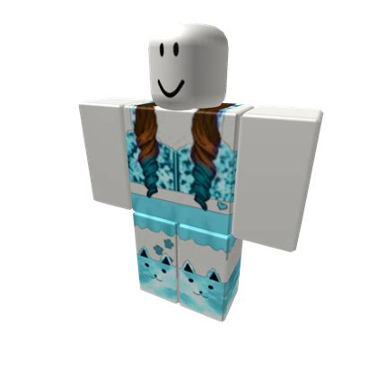 Blue Cat Outfit - Roblox