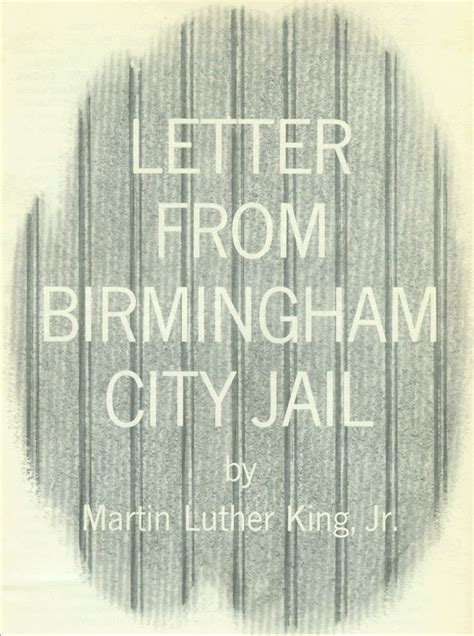 letter of birmingham jail levelings