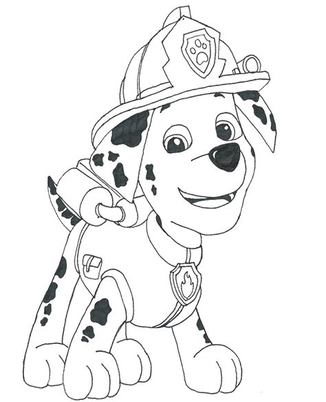 Free coloring pages of paw patrol symbol Printable