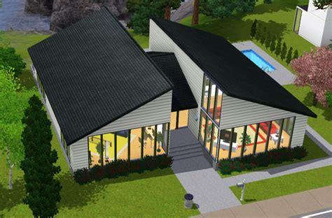 vue aerienne de ma maison sims 3 maison au 2 toits small house with 2 roofs architecture maison house jeu