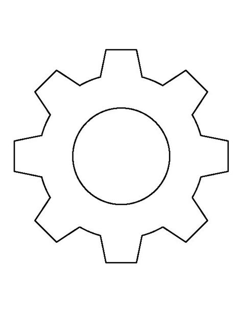 gear template gear pattern use the printable outline for crafts creating stencils scrapbooking and more