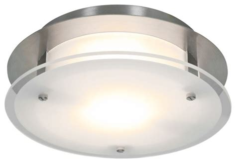 access vision 12 quot wide brushed steel ceiling light