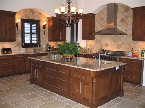 Kitchen Floors And Countertops by Beautiful Kitchen With Granite Countertops And Eased Edge