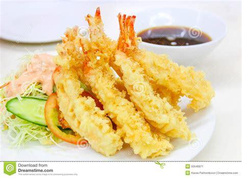 sauce cuisine tempura fried shrimp japanese style stock image image
