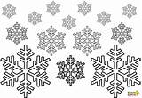 Snowflake Coloring Snowflakes Printable Adults Preschoolers Colouring Snow Winter Printables Cut Snowing sketch template