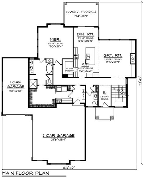 Contemporary Style House Plan 3 Beds 2 5 Baths 2777 Sq