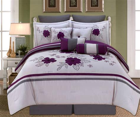 purple and gray bedding 10 alyssa purple and gray comforter set