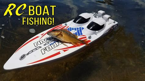 Rc Boats For Saltwater by Rc Boat Saltwater Fishing Monster Mike Youtube