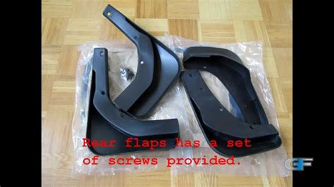 rear mud flaps installation  ford escape kuga youtube