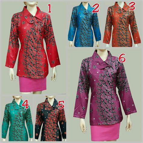 Blus Batik Atasan Wanita jual blus batik wanita modern baju batik atasan semi