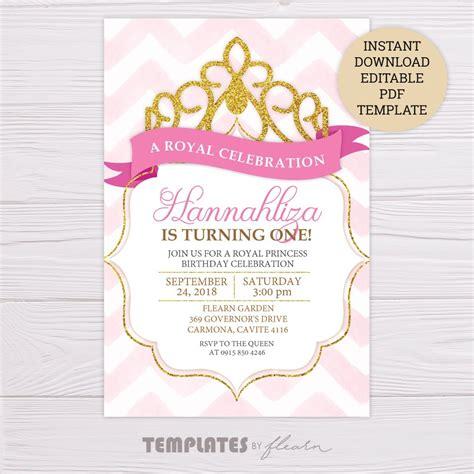 royal princess invitation template flearn ph