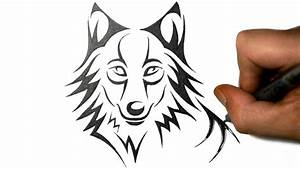 Cute Drawings Of Wolves How To Draw A Cute Wolf In A ...