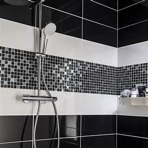 carrelage salle de bain blanc With salle de bain faience noire