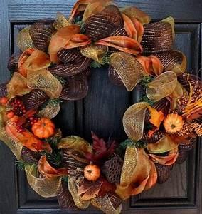 Fall, Deco, Mesh, Wreath, Ideas, U2013, Inspiring, Autumn, Decor, For, The, House